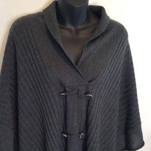 Marisa Christina Wool Loose Poncho Sweater M